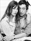 Serge Gainsbourg Actor with Actress Jane Birkin in Their Chelsea Home Obrazy