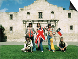 The Rolling Stones June 1975 , Mick Jagger in Alamo, Texas. Usa Prints