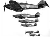 R.A.F. Hawker Hurricanes, March 1938 Print