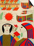 Llort Painting, Fernando Llort Gallery, San Salvador, El Salvador Plakater af Cindy Miller Hopkins