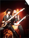 Thin Lizzy with Lead Singer of Phil Lynott Poster