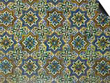 Moorish Mosaic Azulejos (ceramic tiles), Casa de Pilatos Palace, Sevilla, Spain Prints by John & Lisa Merrill