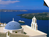 Kimisis Theotokov Church, Thira, Santorini, Cyclades Islands, Greece Prints by Walter Bibikow
