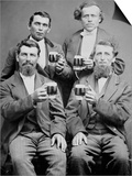 Four Guys and their Mugs of Beer, Ca. 1880 Art
