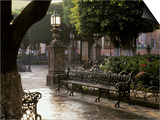 Early Morning, El Jardin, San Miguel de Allende, Mexico Prints by Inger Hogstrom