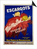 Escargots Menetrel Poster Art