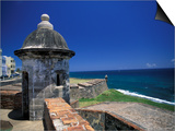 Sentry Box at San Cristobal Fort, El Morro, San Juan, Puerto Rico Posters by Michele Molinari
