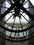 View Across Seine River Through Transparent Face of Clock in the Musee d'Orsay, Paris, France Poster by Jim Zuckerman