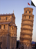 Leaning Tower of Pisa and Cathedral, Italy Prints by John & Lisa Merrill