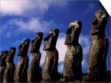 Huge Moai, Ahu Akiri, Easter Island, Chile Posters by Keren Su