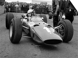 British Grand Prix 1965 Silverstone July 1965 John Surtees Sits in His Ferrari Number 1 Car Plakater