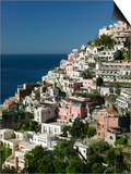 Town View from Amalfi Coast Road, Positano, Amalfi, Campania, Italy Prints by Walter Bibikow