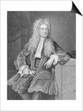 Engraved Portrait of Sir Isaac Newton Art