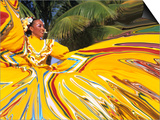 Dancers Performing in Costume, Costa Maya, Mexico Prints by Bill Bachmann