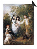 The Marsham Children Poster by Thomas Gainsborough