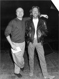 Eric Clapton with Phil Collins Before the Concert at the Royal Albert Hall Prints
