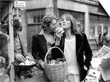 Jane Birkin and Serge Gainsbourg Arrived in London and Went Shopping in Berwick Street Market Prints