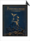 Cover of Peter Pan and Wendy Print by J.M. Barrie
