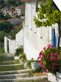 Hillside Vacation Villa Detail, Assos, Kefalonia, Ionian Islands, Greece Prints by Walter Bibikow