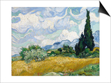 Wheat Field with Cypresses Prints by Vincent van Gogh
