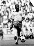World Cup Group 3 Match in Guadalajara Mexico. 7th June 1970 England 0 Vs Brazil 1, Brazil's Pele Plakater