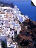 White Buildings in Oia Santorini, Athens, Greece Prints by Bill Bachmann