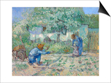 First Steps, after Millet Print by Vincent van Gogh