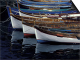 Boats in Harbor, Cinque Terre, Italy Prints by Greg Gawlowski