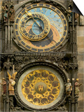 The Astronomical Clock, Prague, Czech Republic Print by Russell Young