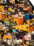 Steep Hill with Colorful Houses, Guanajuato, Mexico Posters by Julie Eggers
