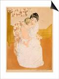 Maternal Caress Prints by Mary Cassatt