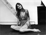 Jane Birkin Actress Sitting on Floor January 1970 Posters