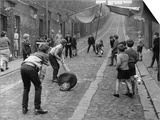 Children Playing Cricket in the Back Streets of Newcastle, 1962 Art
