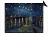 La Nuit Etoilee (Starry Night) Posters by Vincent van Gogh