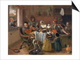 The Merry Family Prints by Jan Havicksz. Steen