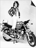 Marc Bolan Standing on Motor-Bike, 1976 Poster