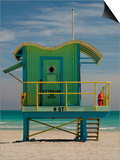 Lifeguard Station on 8th Street, South Beach, Miami, Florida, USA Posters by Nancy & Steve Ross