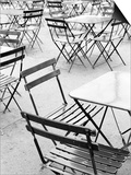 Chairs in Jardin du Luxembourg, Paris, France Prints by Walter Bibikow