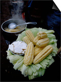 Corn on the Cob with Local Cheese, Ollantaytambo, Peru Art by Cindy Miller Hopkins