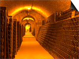 Underground Wine Cellar, Champagne Francois Seconde, Sillery Grand Cru Print by Per Karlsson