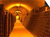Underground Wine Cellar, Champagne Francois Seconde, Sillery Grand Cru Print by Per Karlsson