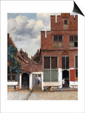 The Little Street (View of Houses in Delft) Prints by Jan Vermeer