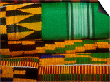 Kente Cloth, Artist Alliance Gallery, Accra, Ghana Print by Alison Jones