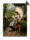 The Love Letter Print by Theodore Gerard