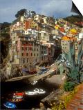 Town View, Rio Maggiore, Cinque Terre, Italy Posters by Alison Jones