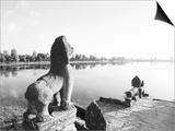 Sras Srang Royal Reservoir, Angkor, Cambodia Posters by Walter Bibikow