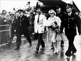 Marilyn Monroe Arriving at London Airport with Husband Arthur Miller, 1956 Prints