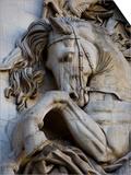Horse Head Detail on the Arc de Triomphe, Paris, France Art by Jim Zuckerman