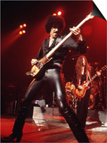 Phil Lynott Singer of Thin Lizzy Singing on Stage Playing Guitar Posters