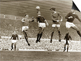 Manchester United vs. Arsenal, Football Match at Old Trafford, October 1967 Posters